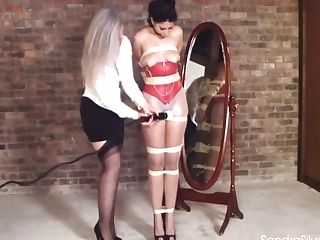 Old Woman Vibes Latina Tied To Pole