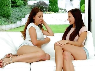 Teressa Bizarre And Sophie Rose In Orgasmic Brunettes Lesbo Scene By Sapphix