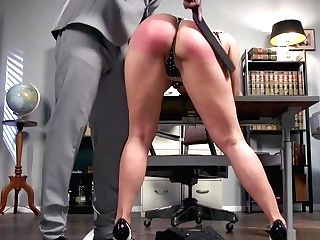 Big Tits Blonde Cougar Hit Nubile In Office