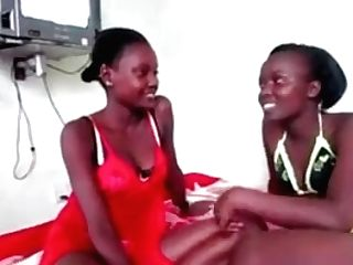 Hot And Youthfull African Stunners Banging With The Belt Cock