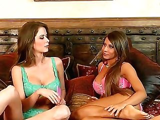 Hot Brown-haired Honey Emily Addison And Her Lusty Friend Love In Turning Their Interview Into A Hot And Arousing Sapphic Fucky-fucky Session With Fri
