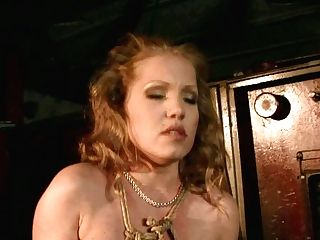 Cuddly Crimson-haired Mummy Is Manhandled By Insatiable Dark Haired Mistress In Bondage & Discipline Hookup Scene