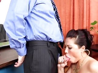 Hot Fucking Office Lunch With London Keyes!