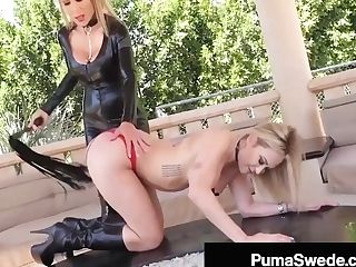 Buxomy Blonde Bombshell Puma Swede Whips A Doll To Orgasm!