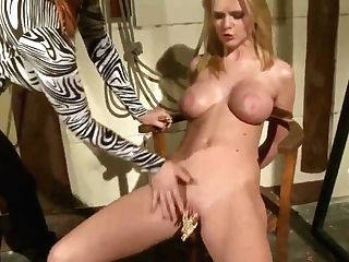 Natasha Brill Is Being Instructed A Sexy Lesson By Hot Mistress Katy Parker