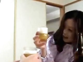 Japanese Mom With Sonny Drink And Fuck